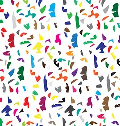 Abstract seamless pattern of color scatter pieces vector