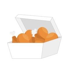 chicken leg fast food vector image