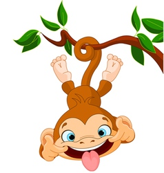 Monkey hamming vector image
