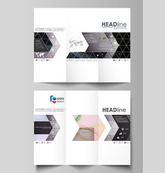 Tri-fold brochure business templates easy vector