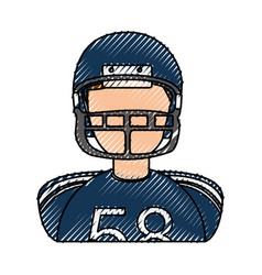 American football player avatar vector