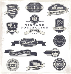 Premium quality labels collection vector