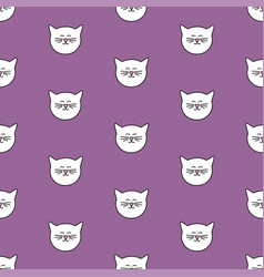 Tile pattern with cats on pastel background vector