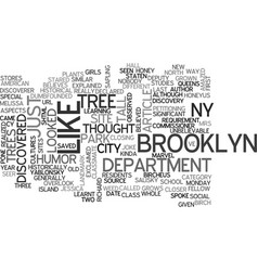 A tree grows in brooklyn ny text word cloud vector
