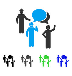 Engineer persons forum flat icon vector