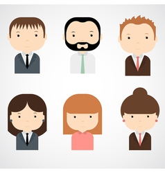 Set of colorful office people icons vector