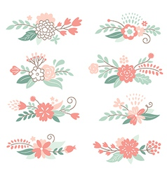 floral graphic elements vector image