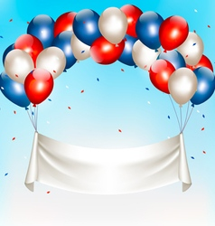 American background with colorful balloons for 4th vector