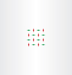 Abstract red green square vector