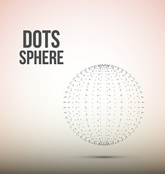 Sphere from dots wireframe mesh polygonal element vector
