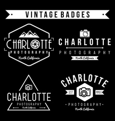 Set of badge photography and vintage vector