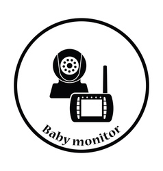 Baby monitor icon vector