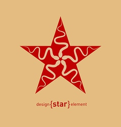 Abstract design element star with spermatozoon vector image