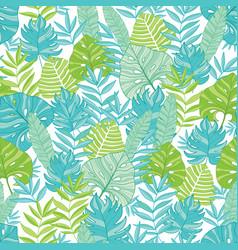 blue green tropical leaves summer hawaiian vector image