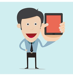 cartoon show blank mobile device vector image vector image