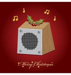 Christmas music speaker vector image vector image
