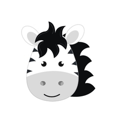 cute little zebra animal character vector image vector image