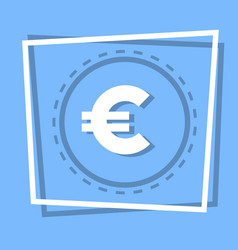 Euro sign icon currency web button vector