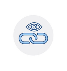 Eye hyperlink link web web link icon vector
