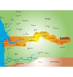 Gambia vector image
