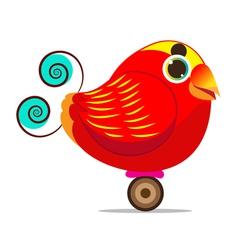 King bird of paradise bird cute cartoon abstract vector