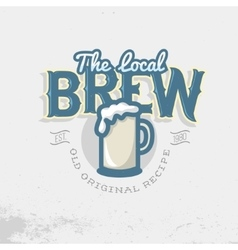 Local brew emblem template beer mug vector