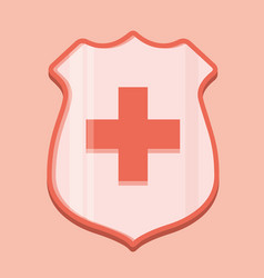 Medical shield icon vector