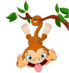 Monkey hamming vector image vector image