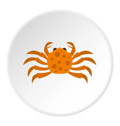 Orange crab icon circle vector