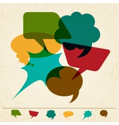 Speech bubble in retro style vector image vector image