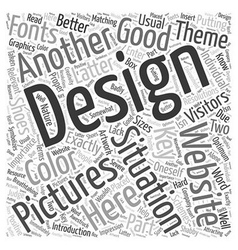 The key to better websites b design word cloud vector