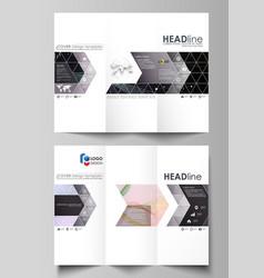 Tri-fold brochure business templates easy vector