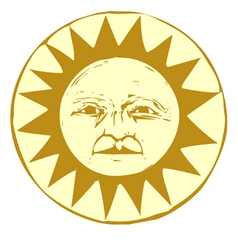 Woodcut Sun vector image vector image