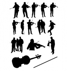 Violinists vector