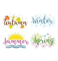 Seasons the lettering isolated on a white vector