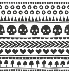 Seamless halloween pattern in tribal style vector image