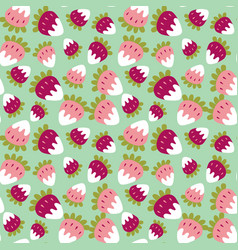seamless background of a sweet strawberry vector image