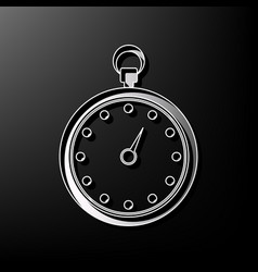 Stopwatch sign   gray 3d vector