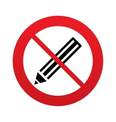 No pencil sign icon edit content button vector