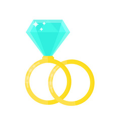2 beauty wedding ring with diamond vector image vector image