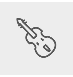 Cello thin line icon vector