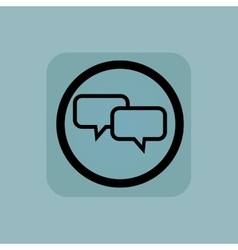 Pale blue chat sign vector