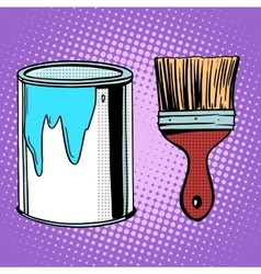 Paint brush work painting design vector