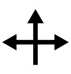 Intersection directions flat icon vector