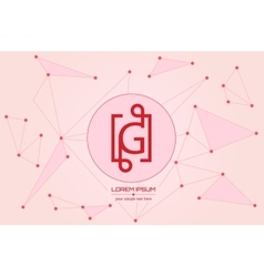 Abstract concept creative letter g vector