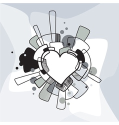 Abstract decorative heart vector image vector image