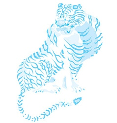 Artistic tiger design vector