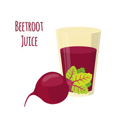 beetroot juice beetroot and slices cartoon style vector image vector image