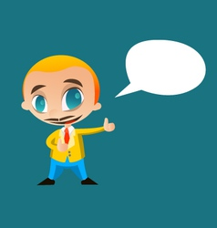 businessman say something vector image