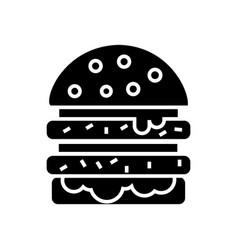 cheeseburger icon black sign vector image